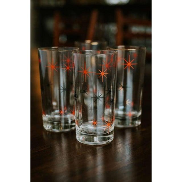 Mid-Century Modern Starburst Drinking Glasses-Set of 4 For Sale - Image 4 of 7