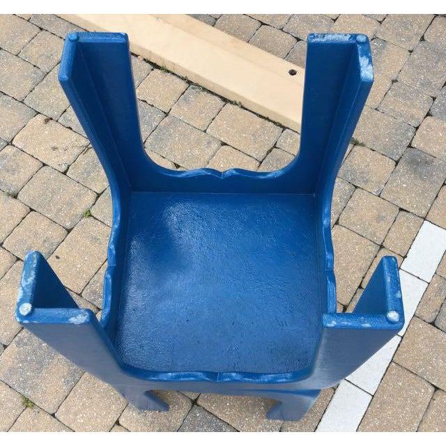 Vintage Blue Fiberglass Occasional Tables - A Pair For Sale - Image 12 of 13