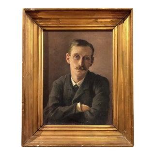 Portrait of a Gentleman, Emilie Mundt, 1882 Denmark For Sale