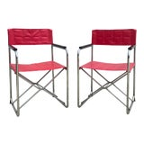 Vintage Red 1950s Folding Chairs Chairish