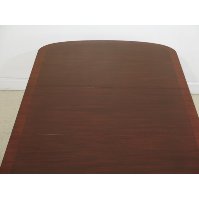 Wood Queen Anne Henkel Harris Banded Mahogany Dining Room Table For Sale - Image 7 of 12