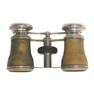 Antique French Wood Opera Glasses For Sale