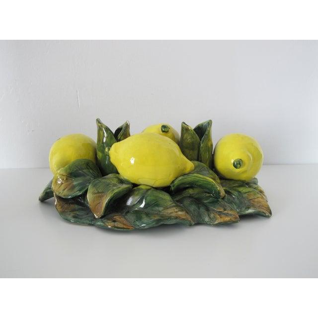 Majolica Lemon Candle Centerpiece - Image 3 of 7