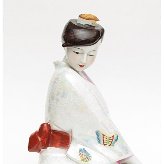 White 1950s Vintage Japanese Porcelain Sake Bottle or Figurine For Sale - Image 8 of 12