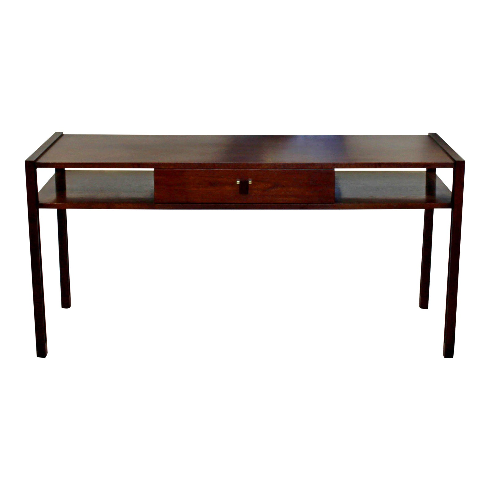 Exquisite Mid Century Modern Edward Wormley For Dunbar Sofa Console Table Walnut Rosewood Decaso