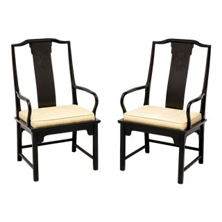 Century Chin Hua Raymond Sobota Asian Chinoiserie Dining Armchairs - Pair For Sale