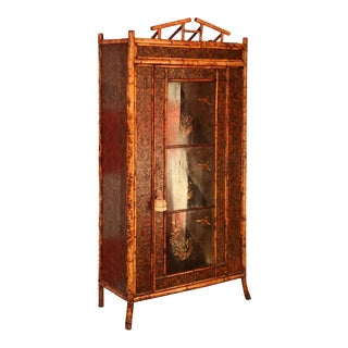 Superb 19th Century English Bamboo Armoire For Sale