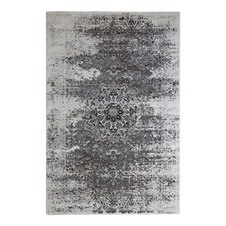 Troy Faded Medallion Rug Black 5'3''x 7'7''