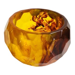 Amber and Tortoise Style Bangle Bracelet For Sale