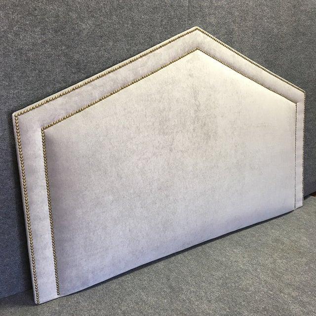 King Size Grey Upholstered Headboard - Image 2 of 6