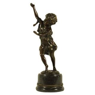 Bronze Dancing Child Sculpture