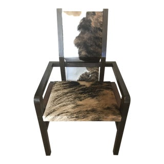 Modern House of Mercier Plagio Cowhide Chair For Sale