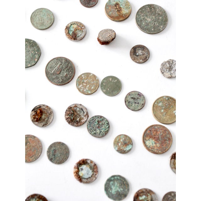 Coin Collection For Sale >> Vintage Oxidized Coin Collection
