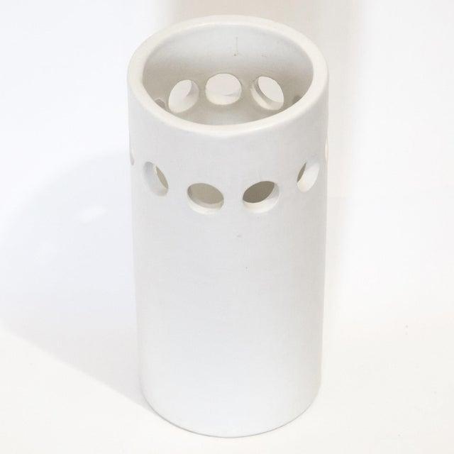 Ceramic White Bitossi for Rosenthal Netter Vase For Sale - Image 7 of 8