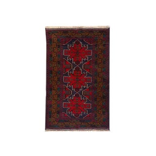 Tribal Handknotted Baluchi Rug - 3' 10 X 6' 9 For Sale