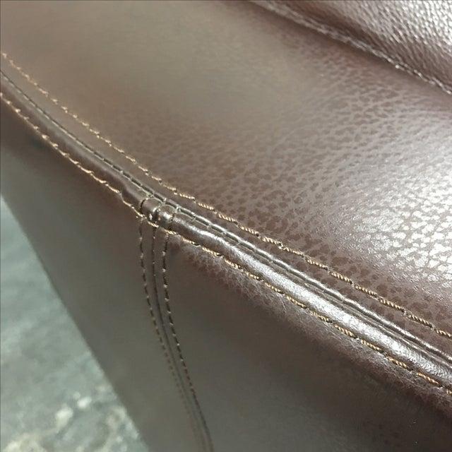 Leather Arc Sofa - Image 3 of 9
