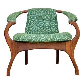 Vintage Mid Century Adrian Pearsall Teak Armchair For Sale