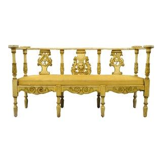 Antique French Renaissance Settee