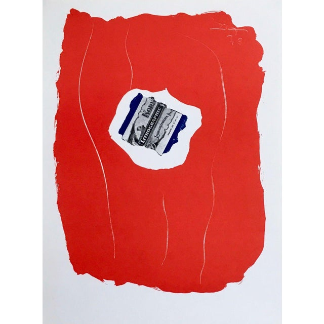 """1973 """"Tricolor"""" Limited Edition Lithograph After Robert Motherwell For Sale"""