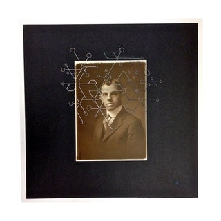 Original Stitched Art on Vernacular Portrait Photo