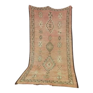 """Vintage Authentic Berber Moroccan Teppich Rug - 10'2"""" x 5'5"""" For Sale"""