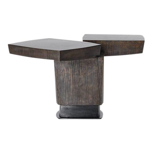 Gary Magakis, Ledges 2 Patined Steel Side Table, USA, 2016 For Sale