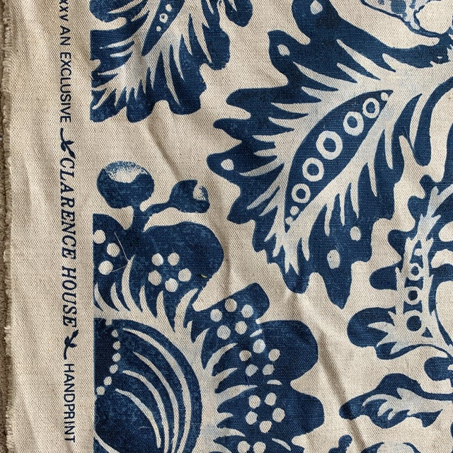 "Traditional Clarence House ""Delft"" Fabric For Sale - Image 3 of 4"