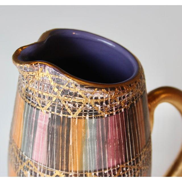 Mid Century Bitossi Raymor Seta Italian Pottery Londi Pitcher For Sale - Image 10 of 13