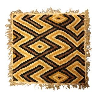 African Kuba Woven Raffia Textile Art