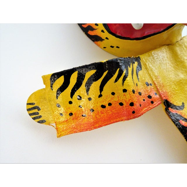 Canvas Hand Painted Tiger Sculpture For Sale - Image 7 of 11