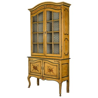 French Louis XV Style Vitrine or Bookcase For Sale