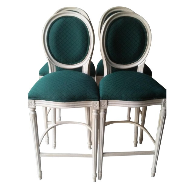 French Louis XVI Style Bar Stools - 4 - Image 1 of 10
