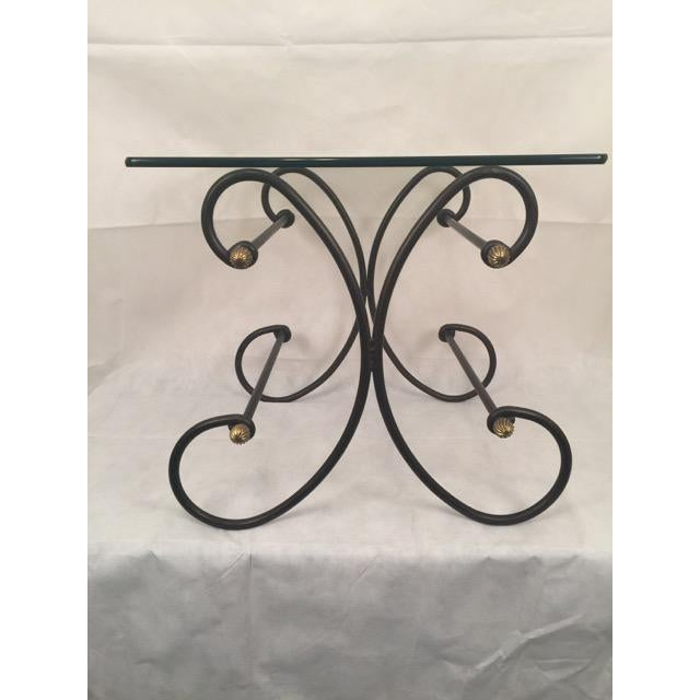 Wrought Iron and Beveled Glass Side Table For Sale In Washington DC - Image 6 of 6
