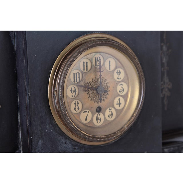 Late 19th Century 19th Century Victorian French Marble Mantel Clock For Sale - Image 5 of 7