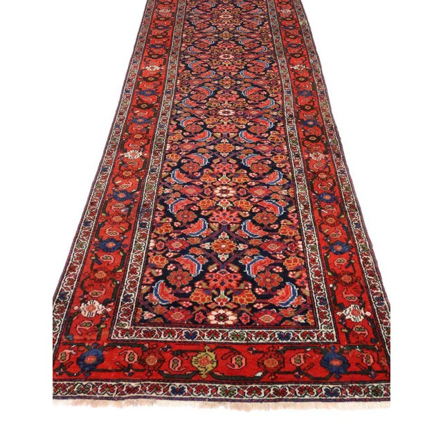 Cabin Antique Persian Malayer Runner with Modern Style For Sale - Image 3 of 9