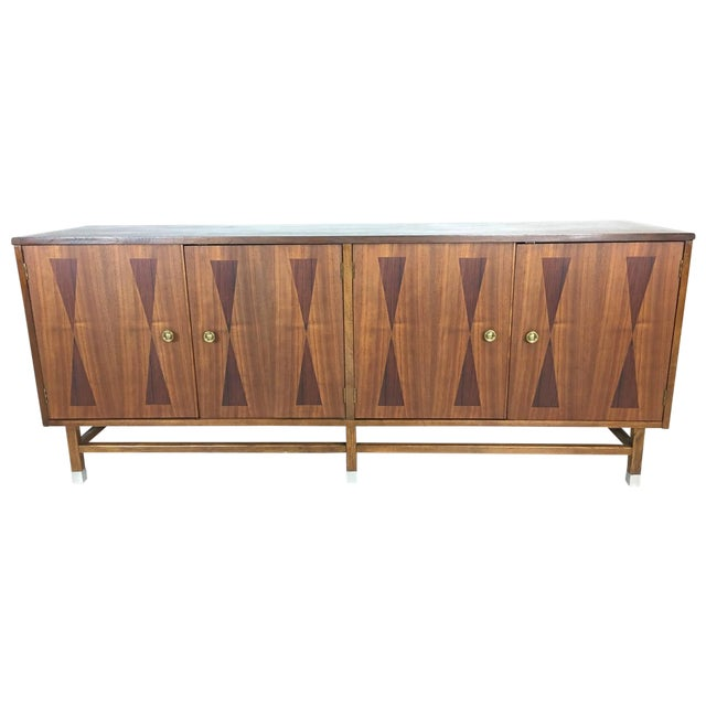 Mid-Century Walnut With Rosewood Inlay Credenza - Image 1 of 8
