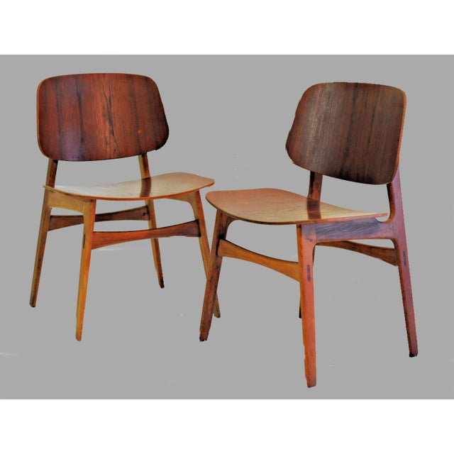 Brown Mid Century Borge Mogensen Shell Chairs- A Pair For Sale - Image 8 of 8