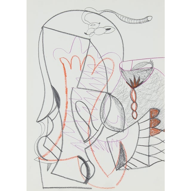 Detailed Surrealist Drawing by M. Di Cosola For Sale