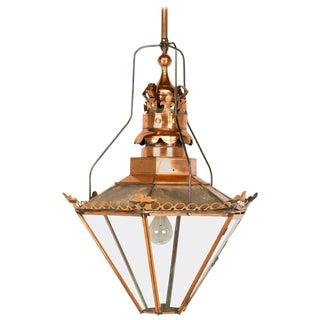 "Antique English ""Huge"" Copper Lantern, Circa 1800s For Sale"
