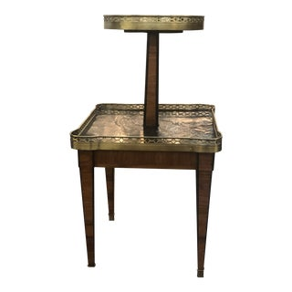19th Century Marble and Chinoiserie Two Tiered Table For Sale
