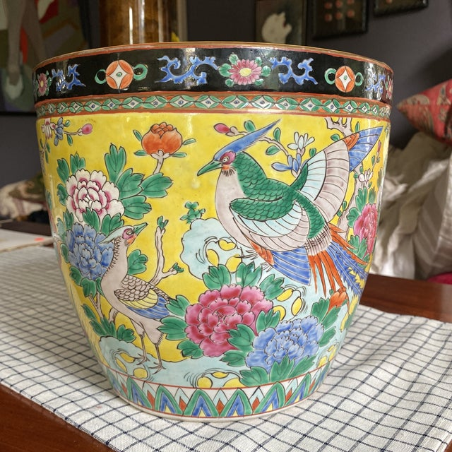 Ceramic Circa 1900 Japanese Nippon Fish Bowl Planter For Sale - Image 7 of 7