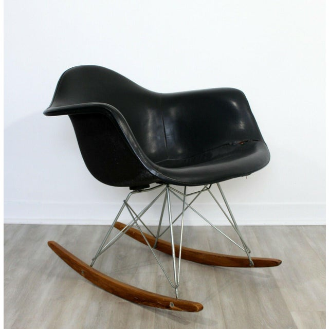 Wood Mid Century Modern Early Charles Eames Eiffel Tower Rocker Rocking Chair 1950s For Sale - Image 7 of 7