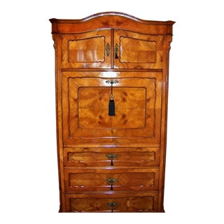 19c French Louis Philippe Yew Wood Secretaire With Secret Drawers For Sale