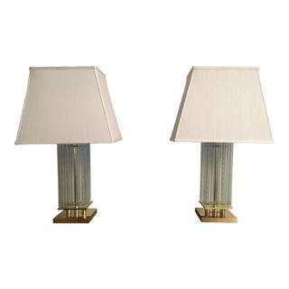 1980s Gaetano Sciolari Lamp Pair For Sale