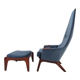 Adrian Pearsall 2056-C Lounge Chair & Ottoman For Sale