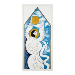 Large Gio Ponti Study for Window at Shui-Hing Department Store, Singapore, 1978
