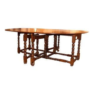19th C Gate Leg Oval Table For Sale