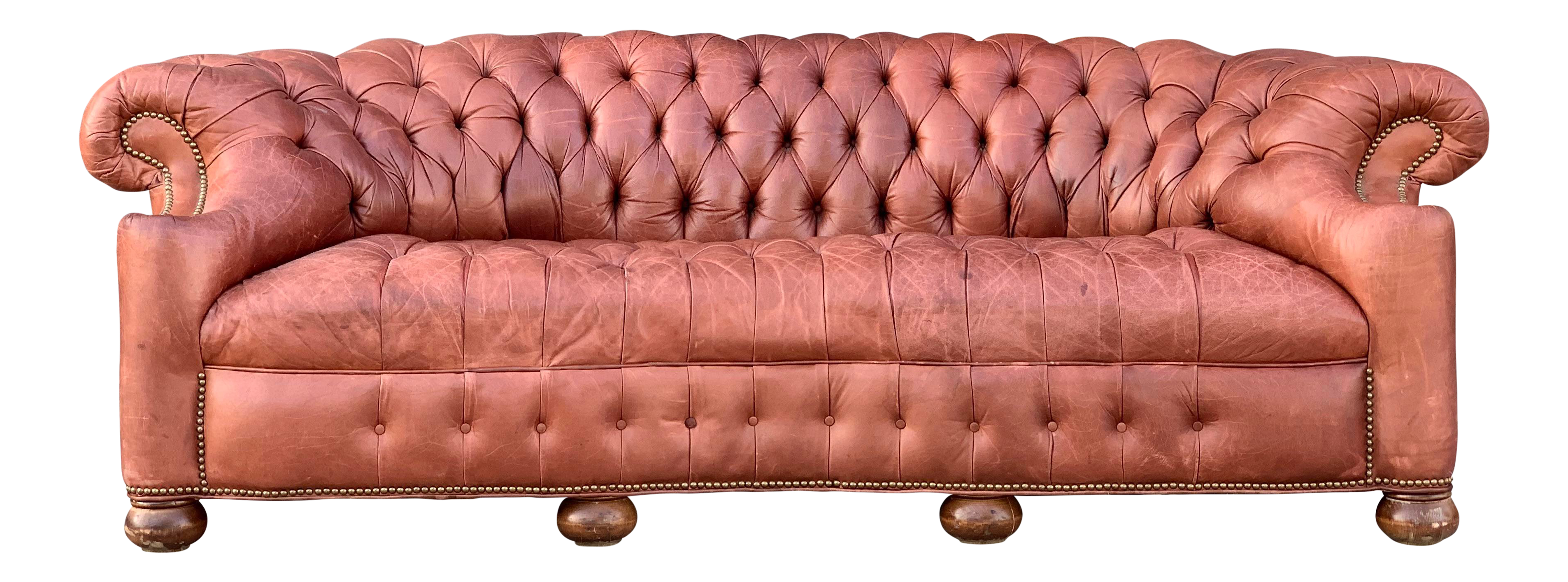 Vintage Used Leather Sofas Chairish