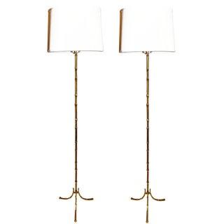 Vintage Maison Bagues Floor Lamps. A Pair For Sale