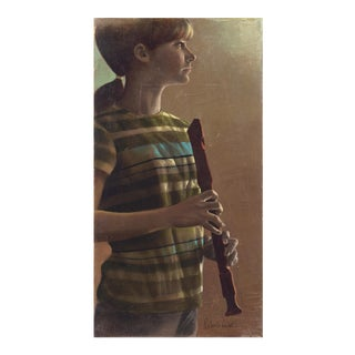 'Young Musician With Recorder' by Roberto Lupetti For Sale